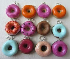 Donuts made with Fimo clay @ craftsbycloud.weebly.com #fimo #donut #craftsbycloud