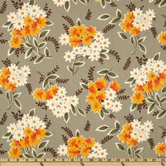 Amazon.com: 44'' Wide Flea Market Fancy Legacy Collection Bouquet Grey Fabric By The Yard: Arts, Crafts & Sewing