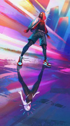 Into the Spider-Verse by Simon Dinh : Spiderman – Marvel Comics Amazing Spiderman, Black Spiderman, Spiderman Spider, Spiderman Images, Marvel Art, Marvel Heroes, Marvel Avengers, Marvel Comics