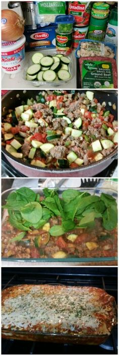 21 Day Fix Lasagna by Brianna! (1 yellow, 1 green, 1 red, 1 blue, 1 EVOO)