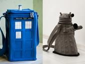 Detailed felt Dalek and Tardis purses will help Time Lords and Ladies accessorize for their next adventure through time, space, and shopping.