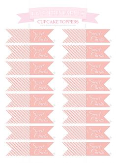 Free Printable Vintage Wedding Cupcake Toppers | DIY & Craft : Free ...