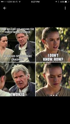 "Knowing Han I don't doubt that he went around telling ""dad jokes"" and annoying Ben with them."