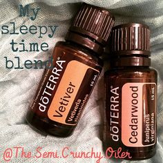 I use a drop or two of cedar wood on my feet and a drop of vetiver on my big toes to sleep at night. It.is.amazing! /