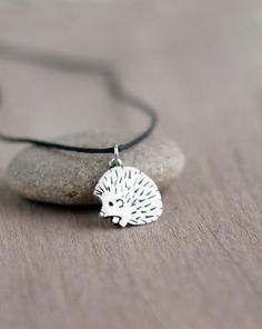 Hedgehog Jewelry Silver hedgehog pendant hedgehog necklace