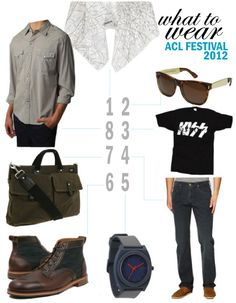 What to Wear to #ACL 2012. This one's for the guys!