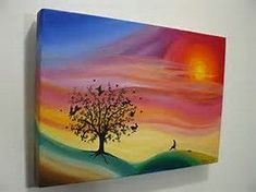 Image result for Trippy Acrylic Painting Ideas