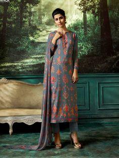 f3454646b3 Vivek Anaya 3 Kashmiri Buti Satin Silk Digital Print With Embroidery Suits  6307