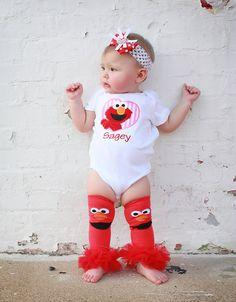 Elmo Tutu Legwarmers..my daughter looooves these