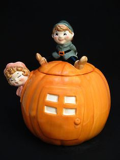 Cookie Jar Peter Peter Pumpkin Eater Treasure Craft Year 1998 Ceramic.