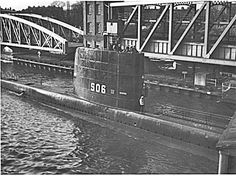 Barton Bridge with HMS CACHALOT going through