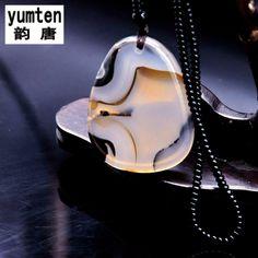 Yumten Ocean Chalcedony Pendant DIY Kolye Bayan Collane Donna Jewelery Costume Necklace Women Reiki Fashion Elegant Popular