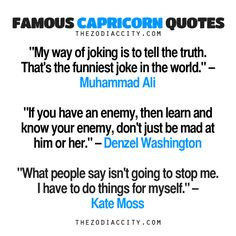 Famous Capricorn Quotes: Muhammad Ali, Denzel... - TheZodiacCity - Get Familiar With Your Zodiac Sign