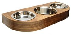 Walnut Veneer Wowo Series 3 Wall Mounted Feeder - modern - pet accessories - other metro - by moderntails.com