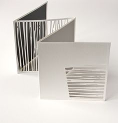 paper art landscape stripes untitled - square laser cut and screen printed artist book page size 16 x 16 cm Tate Gallery Collection by Jenny Smith Concertina Book, Accordion Book, Paper Book, Paper Art, Cut Paper, Design Textile, Book Sculpture, Paper Sculptures, Book Projects