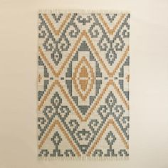 One of my favorite discoveries at WorldMarket.com: Geo Flatweave Morgan Indoor Outdoor Rug