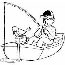 Resultado de imagem para imagem de pescador para colorir