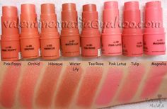 NYX swatches - colour stick - I need all of these!