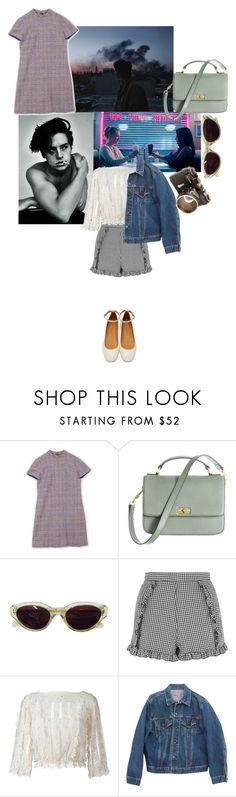 """riverdale"" by rsussher ❤ liked on Polyvore featuring J.Crew, RetroSuperFuture, Topshop, RED Valentino, Levi's and Isabel Marant"
