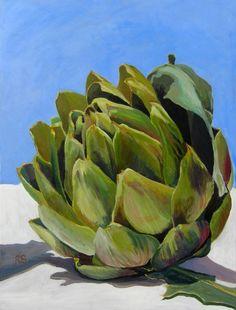 """Saatchi Art Artist Rupert Sutton; Painting, """"Portarit of an artichoke"""" #art"""