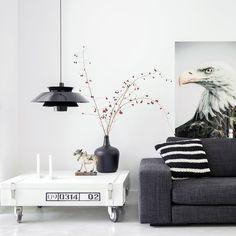 HKliving Pendelleuchte Lounge Schwarz Online Kaufen ➜ Bestellen Sie  Pendelleuchte Lounge Schwarz Versandkostenfrei Für Nur 199