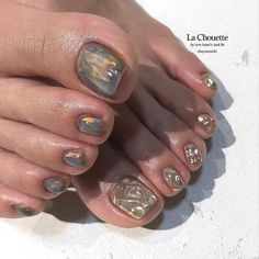 Pin by Bobbilou on Nails in 2019 Fancy Nails Designs, Toe Nail Designs, Feet Nail Design, Pretty Toe Nails, Nails Now, Summer Toe Nails, Pedicure Nail Art, Feet Nails, Funky Nails