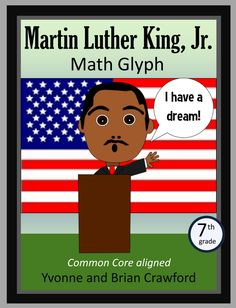 Martin Luther King, Jr. Math Glyph is an activity where students can hone their abilities in mathematics while putting together a fun art project that you can showcase on your classroom wall.