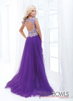 Tony Bowls 2014 Red Pink Purple Turquoise Blue Nude High Low Sheer Prom Dress 114548 | Promgirl.net