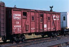 Box Generator Car Built Date: ? Location: Milnet, ON Date: August 1981 Photographer: Don Jaworski Canadian National Railway, Canadian Pacific Railway, Train Car, Train Tracks, Rr Car, Old Steam Train, Old Trains, Rolling Stock, Model Trains