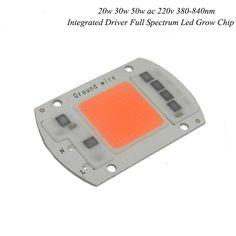 1 stücke Hydroponice AC 220 V 20 watt 30 watt 50 watt led wachsen chip gesamte spektrum 380nm-840nm für innen wachsen beleuchtung