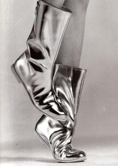 Courrèges boots by Greg Kadel for Vogue Paris