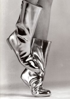 Visibly Interesting: Courrèges boots by Greg Kadel for Vogue Paris
