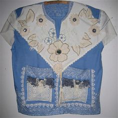Wearable Art VINTAGE Fabrics & Linens Tunic by mybonny