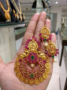 Antique Gold jewelry With Saree - - Gold jewelry Earrings Delicate Necklaces - Gold jewelry Design Unique - -