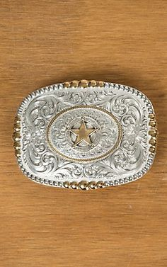 34d29c0be24 Montana Silversmiths Heirloom Gold Pioneer Portrait Buckle with Texas Star  Concho 3 X 4 Boucles