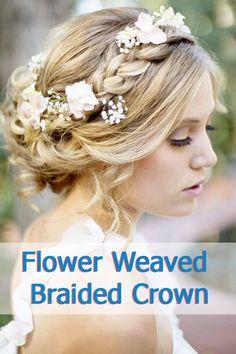 Flower Weaved Braided Crown