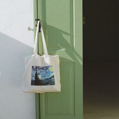 vincent van gogh, the starry night, tote bag, canvas bag, beach bag, cotton bag, plastic free bag, art bag, post impressionism, impressionism, impressionist by tit & nat, reusable bag, shopping bag, shopper bag, street style bag, eco friendly bag Post Impressionism, Impressionist, Eco Friendly Bags, Art Bag, Shopper Bag, Reusable Bags, Cotton Bag, Vincent Van Gogh, Plastic