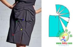 Russian site with ideas for how to alter a standard skirt pattern to create various designs. Skirt Patterns Sewing, Dress Making Patterns, Clothing Patterns, Sewing Clothes, Diy Clothes, Clothes For Women, Pattern Draping, Pola Rok, Modelista