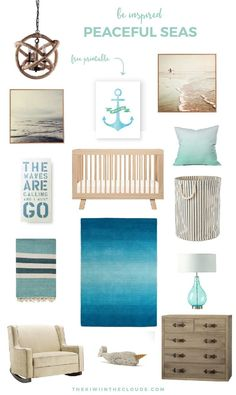 Nautical Nursery Idea | Come take a look at this gender neutral nautical nursery, designed to soothe and relax your baby. Click through for all the details.