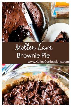 #ad Molten lava brownie pie recipe..so easy, so rich and SO decadent! #FoundMyDelight @walmart