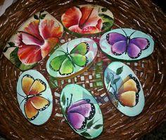 (Painted Soap) Jabones Mariposas pintados a Mano