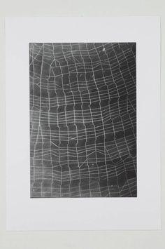 "etceterablog: ""Web Ladder""Vija Celmins, 20101-plate, 1-color mezzotint, printed on bright white paper Image via McKee Gallery."