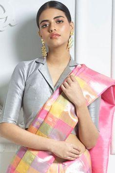 42 Collar Neck Designs For Blouse, Kurti, And Dresses Saree Jacket Designs, Cotton Saree Blouse Designs, Saree Blouse Patterns, Kurti Neck Designs, Fancy Blouse Designs, Designer Blouse Patterns, Blouse Designs High Neck, Silk Cotton Sarees, Dress Designs