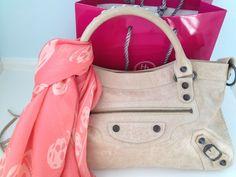 Ella Pretty: Alexander McQueen Skull Scarf & Balenciaga bag
