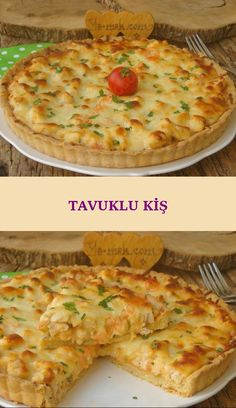 Tavuklu Kiş Butter tart base, chicken mortar and melted, fried cheddar with a delicious flavor you can not get enough … Lemon Cream Sauce Pasta, Lemon Cream Sauces, Chicken Quiche, Queso Cheddar, Butter Tarts, Middle Eastern Recipes, Food Menu, Diet Menu, Easy Cooking