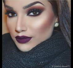 November Vargas · Main photo: 39 Trending Purple Lipstick Shades For 2020 First, it was purple hair. Now, purple lipstick is taking over Purple Lipstick Makeup, Brown Lipstick, Lipstick Shades, Lipstick Colors, Eye Makeup, Hair Makeup, Party Makeup, Lip Gloss Colors, Lip Colors