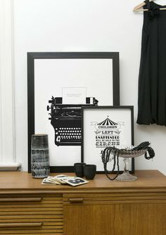 modern black & white art prints