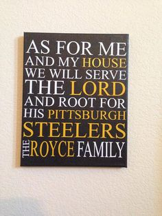 As for me and my house we will serve the lord Sports sign 11X14 inches *CUSTOMIZEABLE*