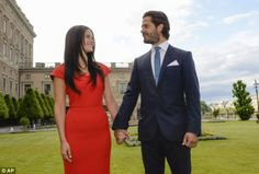 Wedding: The couple are expected to marry next summer, when Ms Hellqvist will likely becom...
