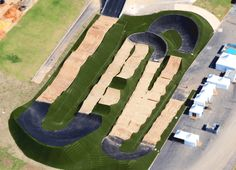 The recently finished Olympic BMX Centre occupies approximately 4,000 square metres of the Radical Park and features a dirt track that runs some 400 metres, full with ramps and sharp turns to stage the BMX cycling runs.